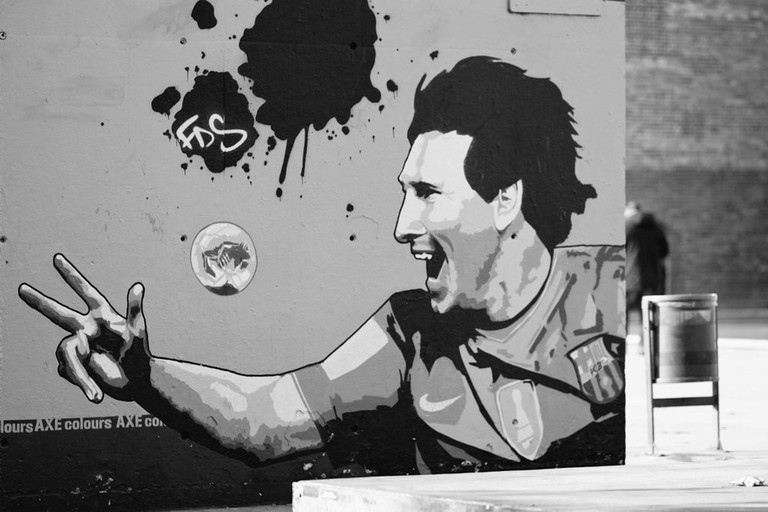 A mural of Leo Messi in Argentina