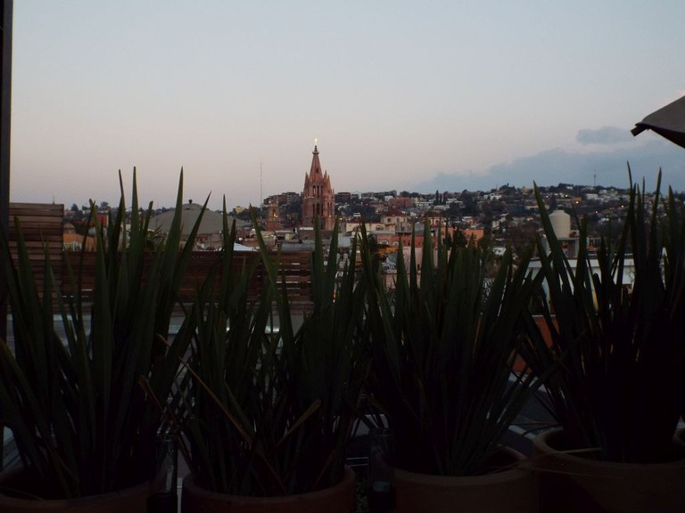 Dusk view from Dos Casas │