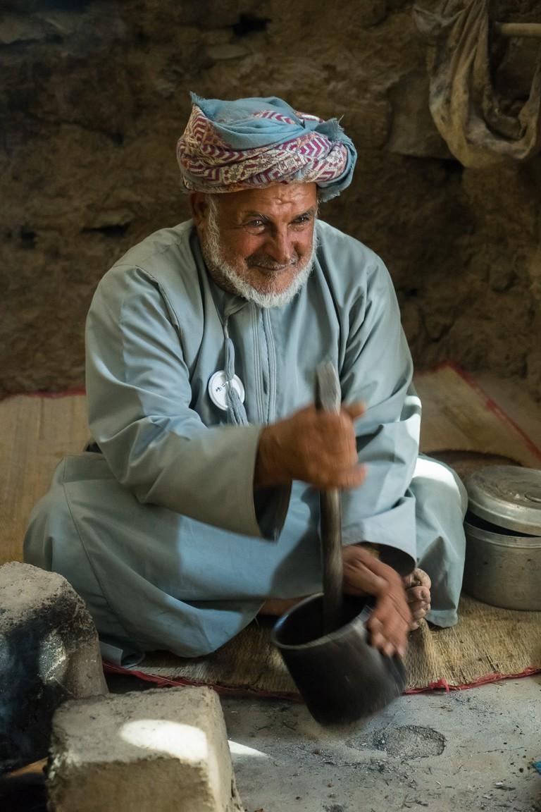 Bait Al Safah, grinding coffee I