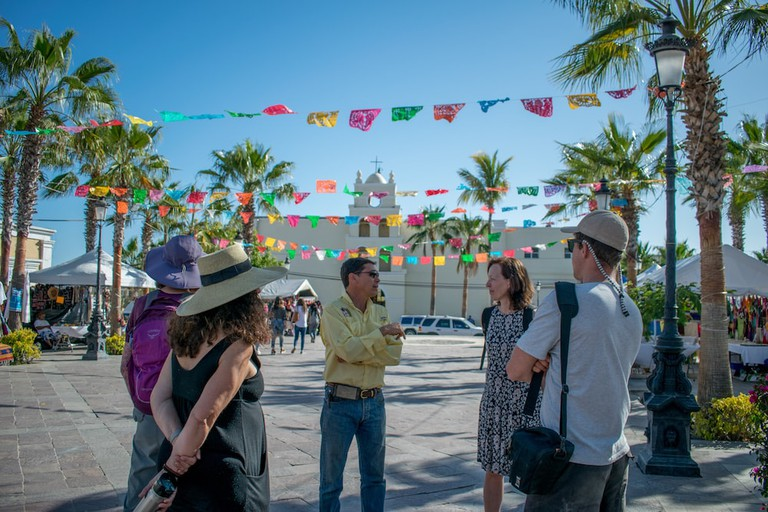Learning about Todos Santo's fascinating past on a guided historical walking tour