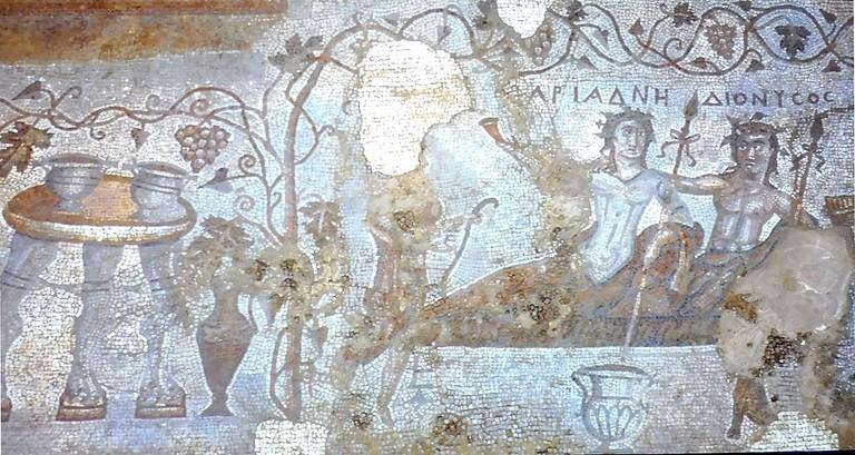 Floor mosaic at Dzalisi City Ruins