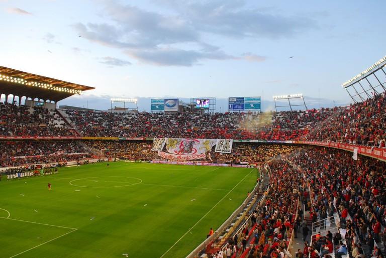 The Ramón Sánchez Pizjuán stadium, Sevilla CF's home ground