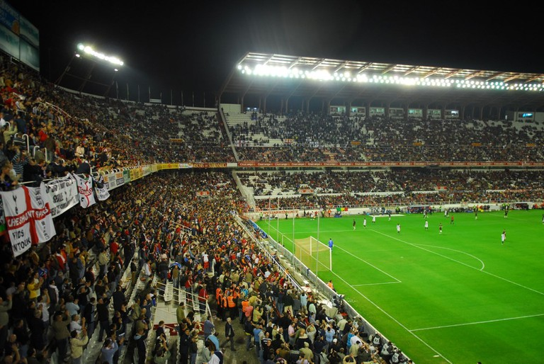 Seville's football stadium has a capacity of just under 48,000