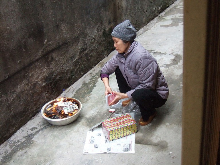 Fake money burning Chinese 1