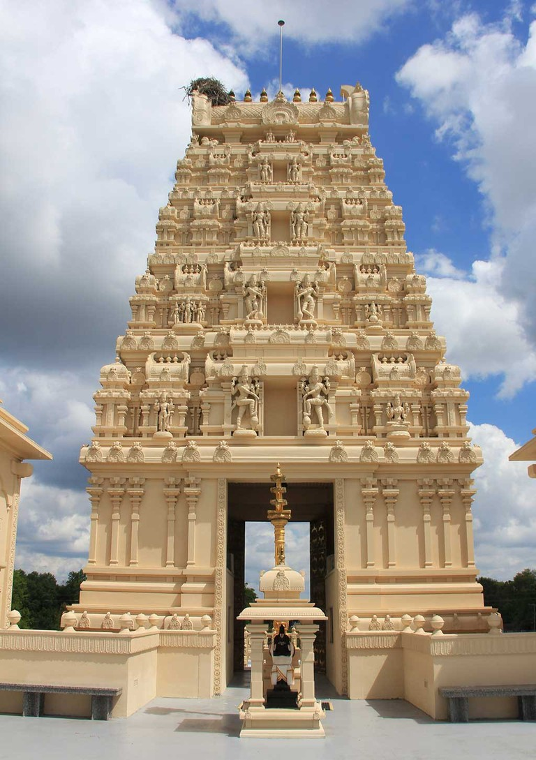 Raja Goparum or Main Entrance Tower of the Hindu Temple of Florida