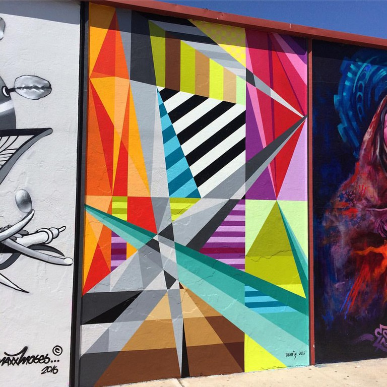 Monty Montgomery's Fractal #35 mural in San Diego's North Park neighborhood.