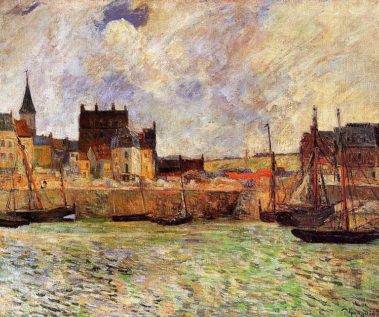 Gauguin used a contract of warm and cool colours for his work Le Port de Dieppe in 1885