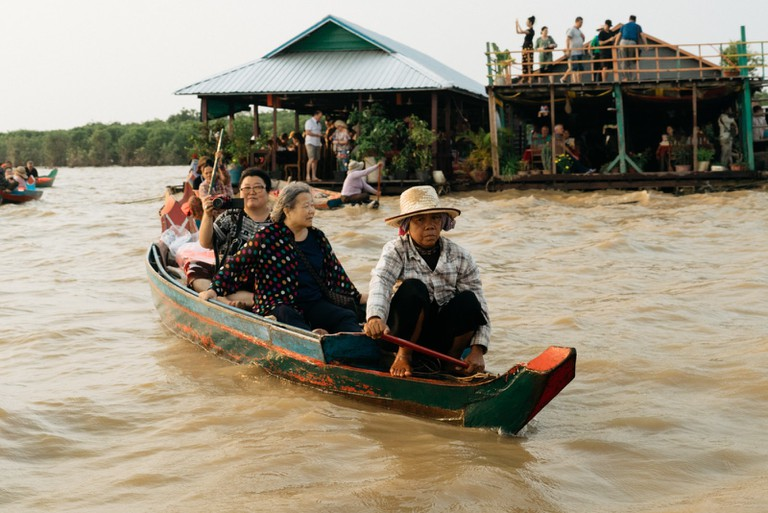 Tail boats are the main mode of transport
