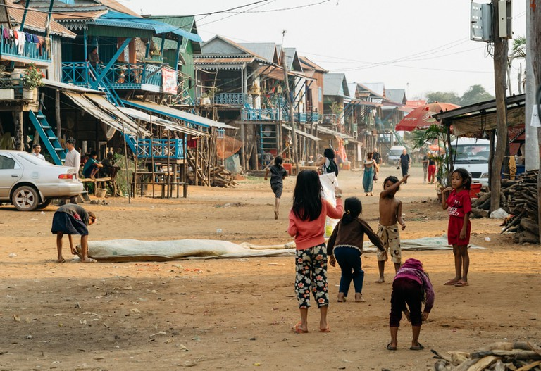 During dry season, Kampong Phluk is free of water