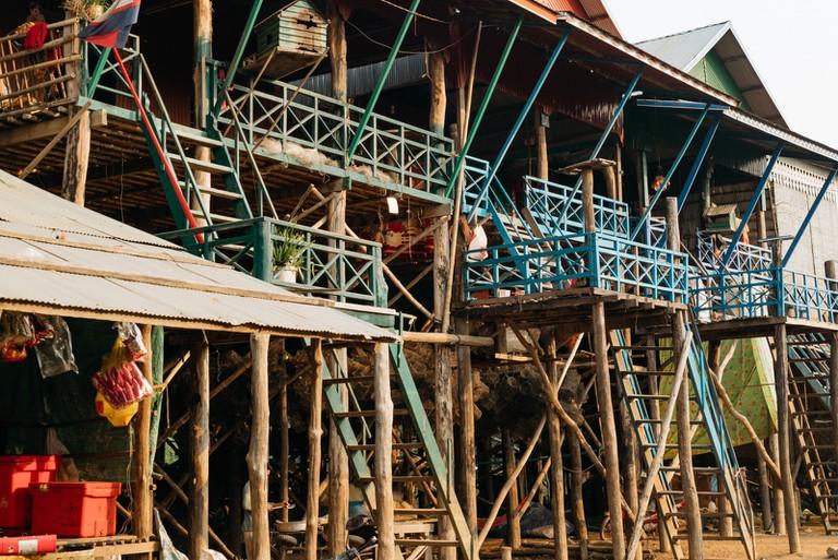 Stilted houses at Kampong Phluk
