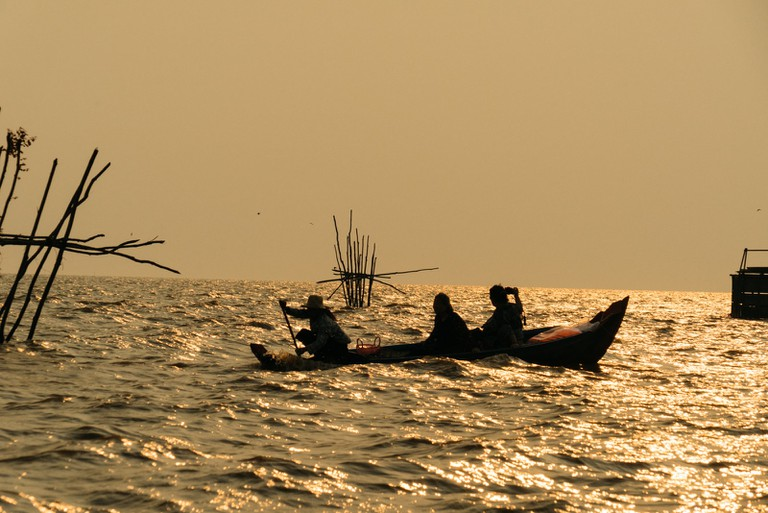 Fishing on the Tonle Sap Lake is the main economy for villagers