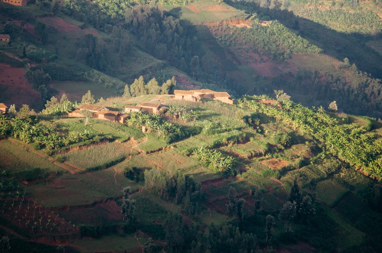 Rolling hills in the Karongi district