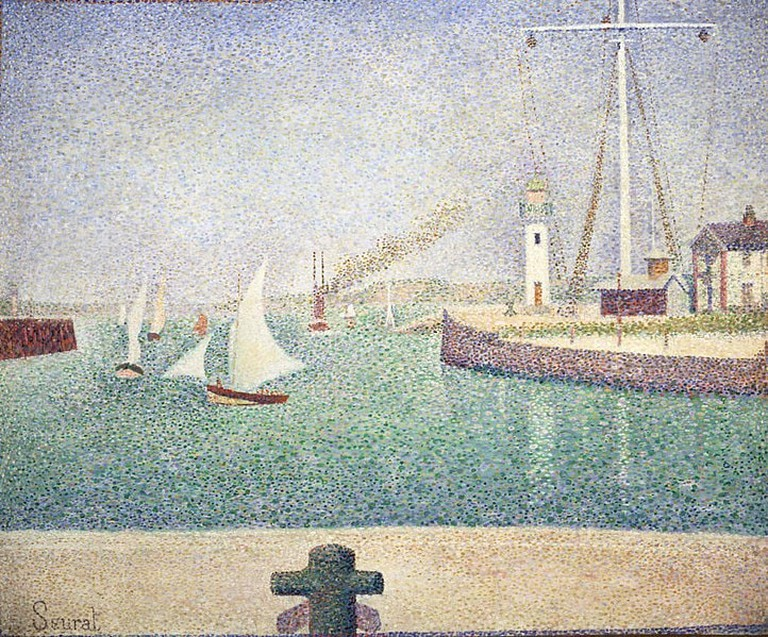 Like many artists, Seurat was enamoured with Honfleur's port, as seen here is his work Entrée du port d'Honfleur