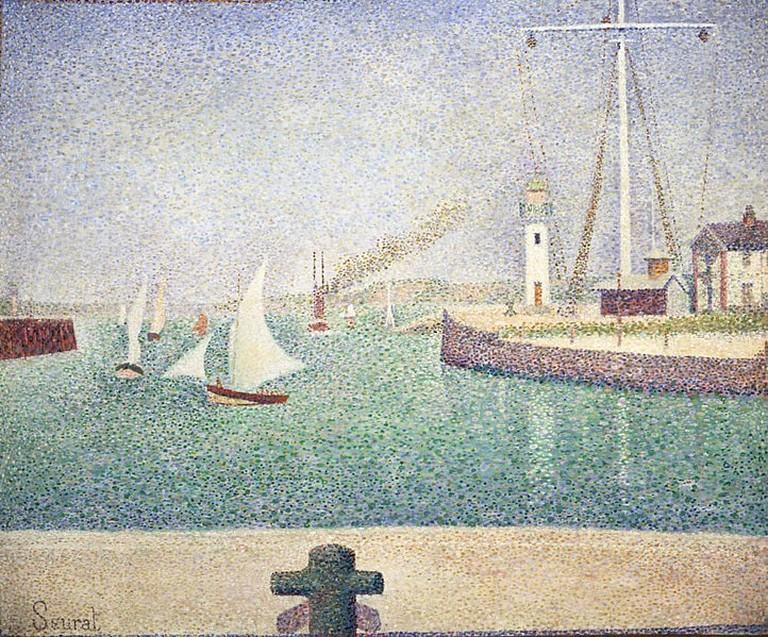 Georges Seurat Entrée du port d'Honfleur impressionism