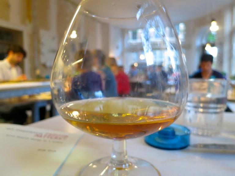 glass of calvados