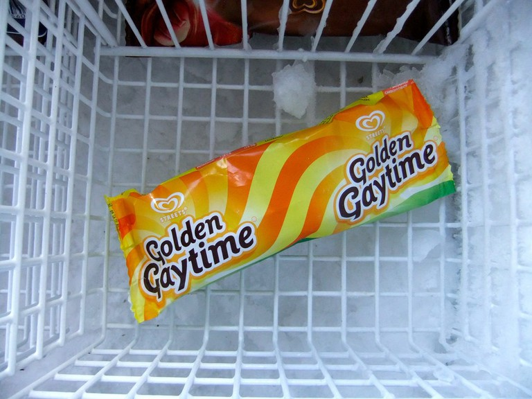 Golden Gaytime in the freezer