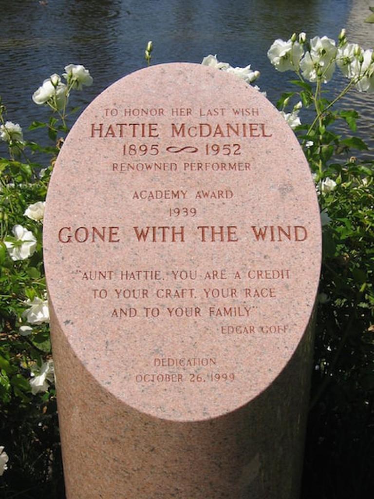 A monument to Hattie McDaniel