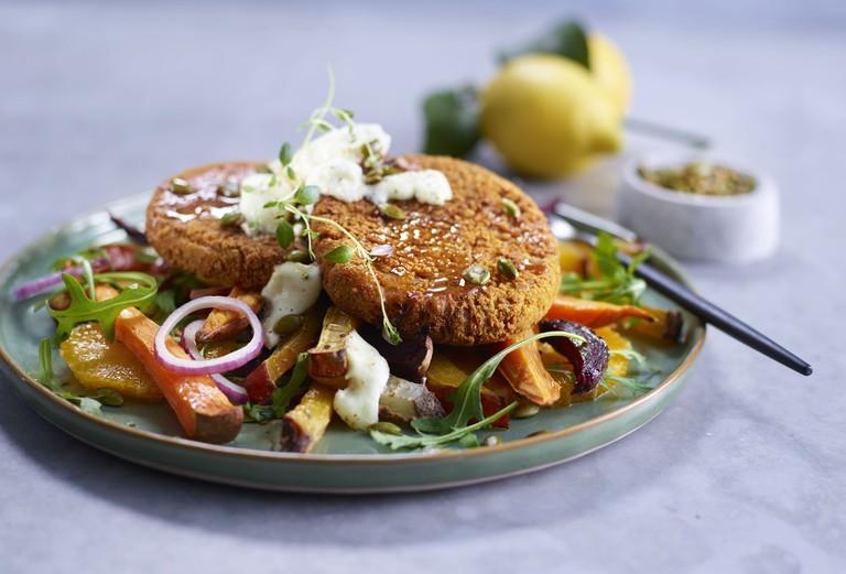 Hoff vegetarian burgers, Courtesy of Hoff SA