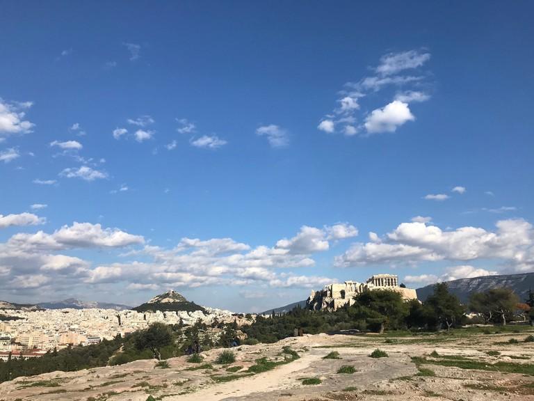 Acropolis views from Filopappou Hill