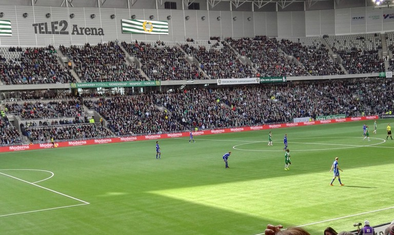The Tele2 arena hosts both Hammarby and Djurgarden