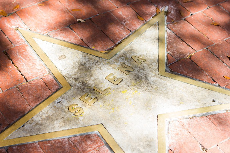 There's a star for Selena placed outside of the Hard Rock Cafe San Antonio