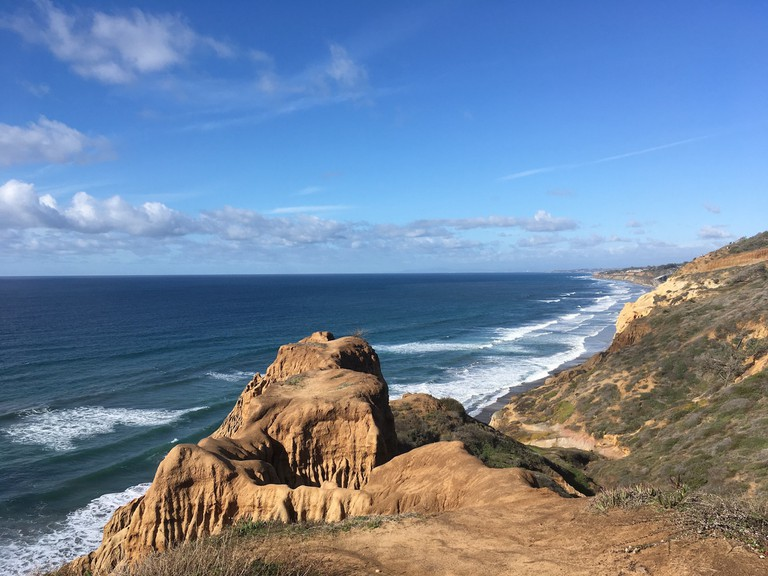 Trails at Torrey Pines overlook the ocean.