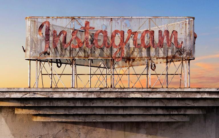 Instangram sign - Andrei Lăcătuşu's Social Decay series