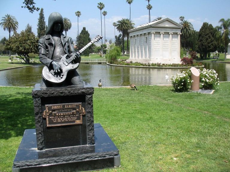 Johnny Ramone's memorial at Hollywood Forever