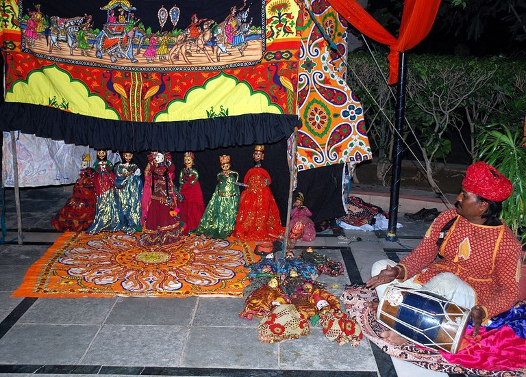 Kathputli, or puppetry dance is a ancient dance form started by Bhat community of Rajasthan several thousand years ago