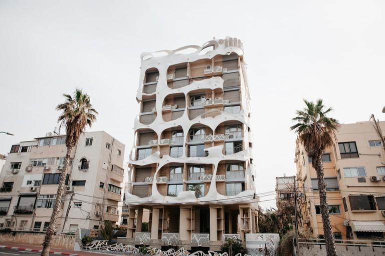 The Gaudi-style 'Crazy House' overlooks Tel Aviv's marina