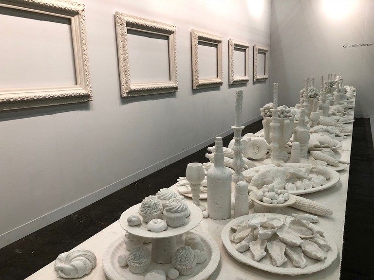 Ken and Julia Yonetani, 'The Last Supper' installation at The Armory Show 2018. Photo by Christine Lee