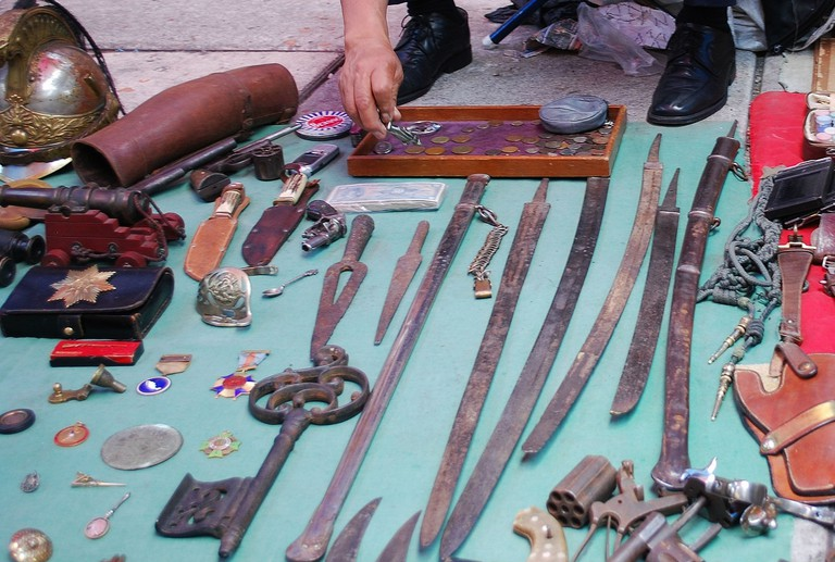 Antique swords on sale at Lagunilla Market