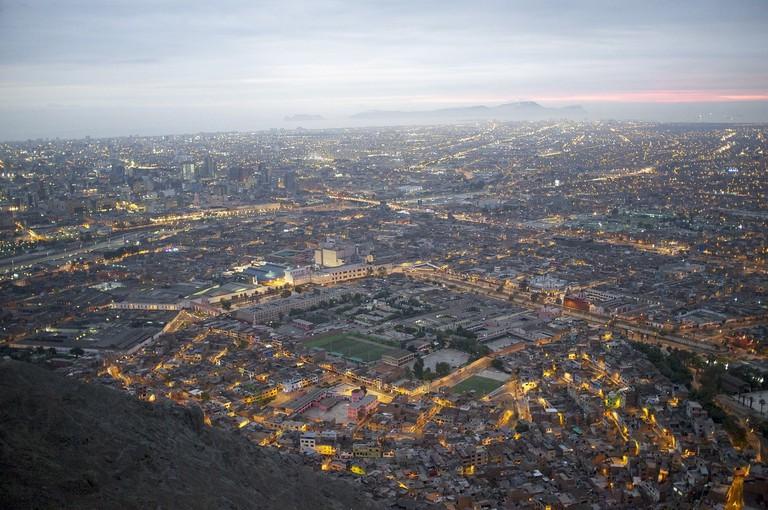 Sunset over Lima