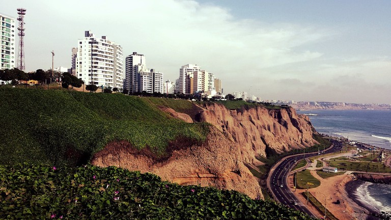 The Miraflores boardwalk