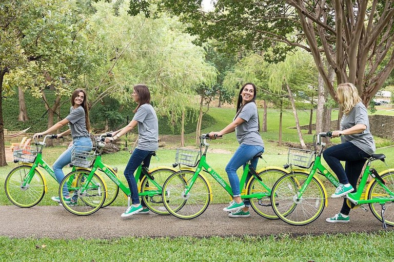 Visitors to Dallas can explore the city on dockless bikeshare bikes like LimeBike
