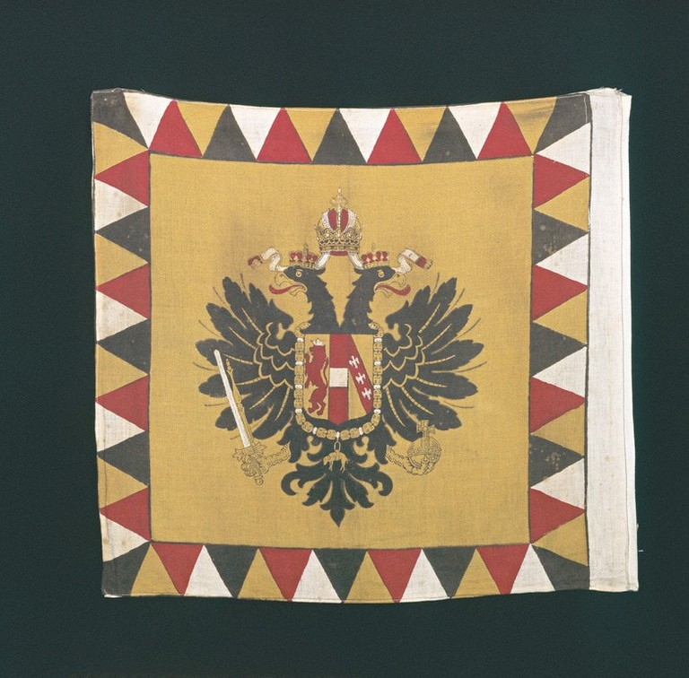 An old version of the eagle flag