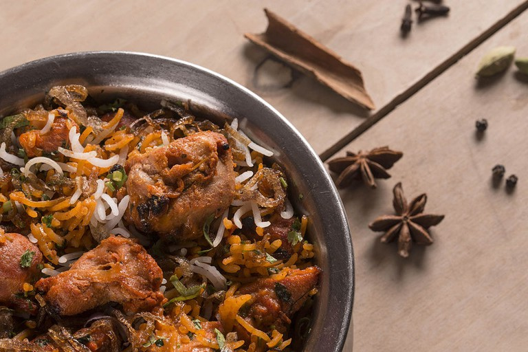 Lucknowi, or Awadhi biryani stands out due to its cooking style, called dum pukht
