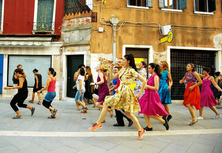 Marinella Senatore, The School of Narrative Dance, performance view, Venice, 2015