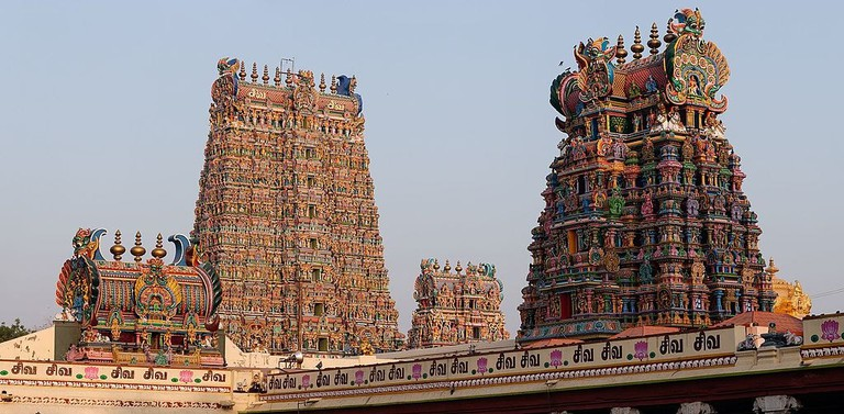 Gopurams of West Tower of Meenakshi temple, Madurai