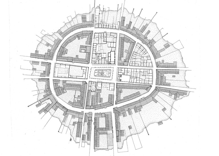 Mexcaltitán street plan