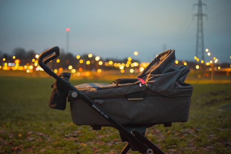 Baby stroller outside