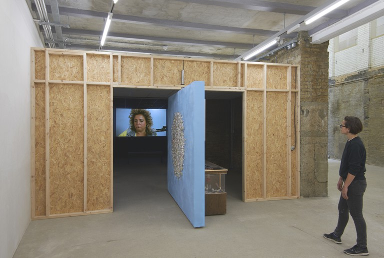 Installation view, Mika Rottenberg, Goldsmiths Centre for Contemporary Art, 2018