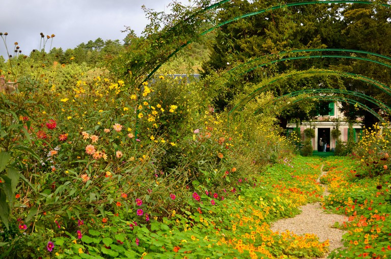 The gardens are still in full bloom in October, as captured here