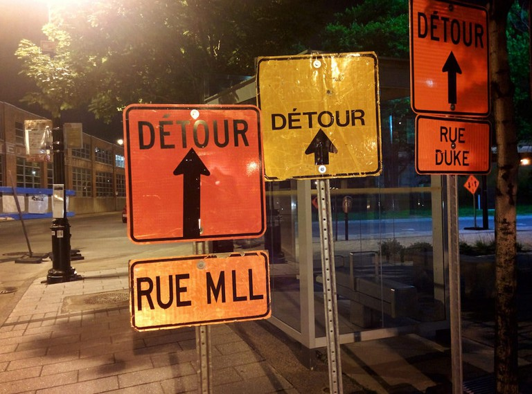 Detours in Montreal