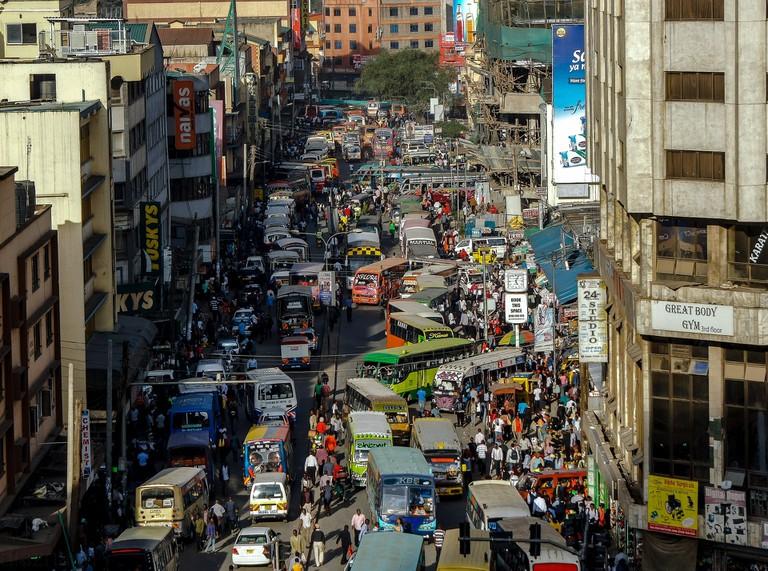 Matatus in Nairobi
