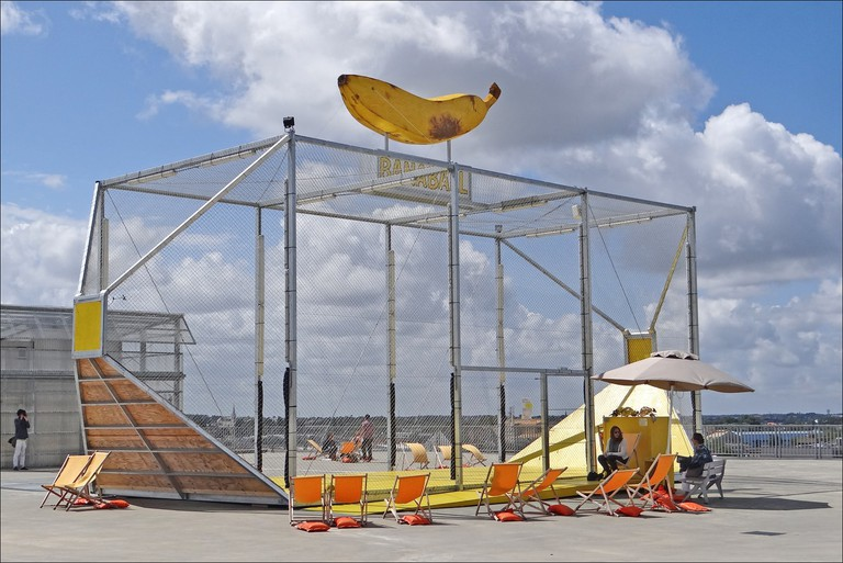 An urban playground on the rooftop of the Nantes School of Architecture, part of the Voyage á Nantes festival