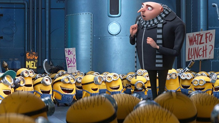 Gru and the Minions in Despicable Me 3