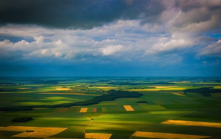 The fields surrounding Paris, France