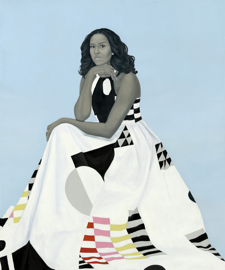 Michelle Obama's official portrait, painted by Amy Sherald