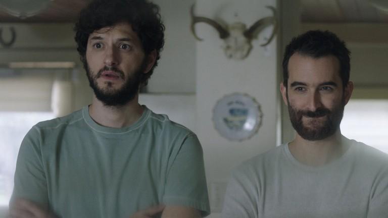 """Ben Schwartz and Jay Duplass in """"Outside In"""""""